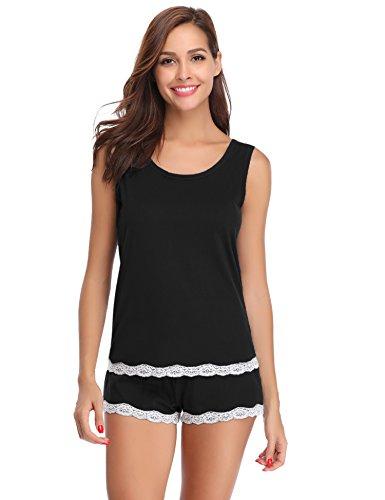 ac3600d264e Pijamas mujer verano cortos camiseta de tirantes y unos pantalones de  algodón para mujer 2 piezas