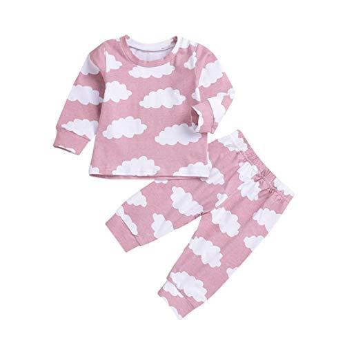 Ropa bebe otoño invierno infantil recién nacido niño casual nube impresión camisas de manga larga pijama moda tops