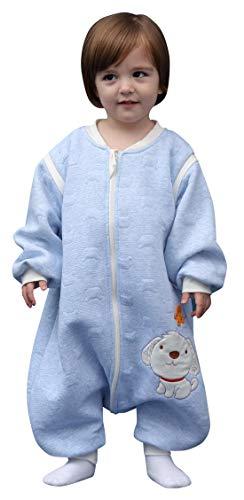 Saco de dormir para bebés con pies mono entero pijama de algodón suave para invierno otoño